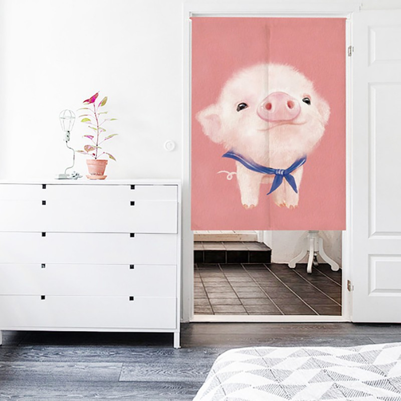 Permalink to Japanese  Doorway Curtain Wall Hanging Tapestry Screens & Room Dividers Printed Cute Animal Pattern on Cotton Linen