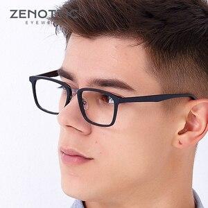 Image 2 - ZENOTTIC lunettes de vue carrées en acétate, montures pour hommes, lentille transparente daffaires, monture, pour myopie optique