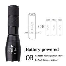 Mais poderosa lanterna led ultra brilhante linterna led tocha t6/l2/v6 zoomable uso de luz de bicicleta aaa 18650 bateria à prova dwaterproof água