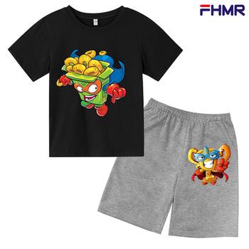 Chłopcy Sonic Super Zings drukuj dziewczyny śmieszne bawełniane koszulki Superzing dzieci 2021 na letnie ubrania dla dzieci Kinder Baby tanie i dobre opinie POLIESTER Damsko-męskie 25-36m 4-6y 7-12y 12 + y Nowość CN (pochodzenie) Lato Z okrągłym kołnierzykiem Zestawy Brak