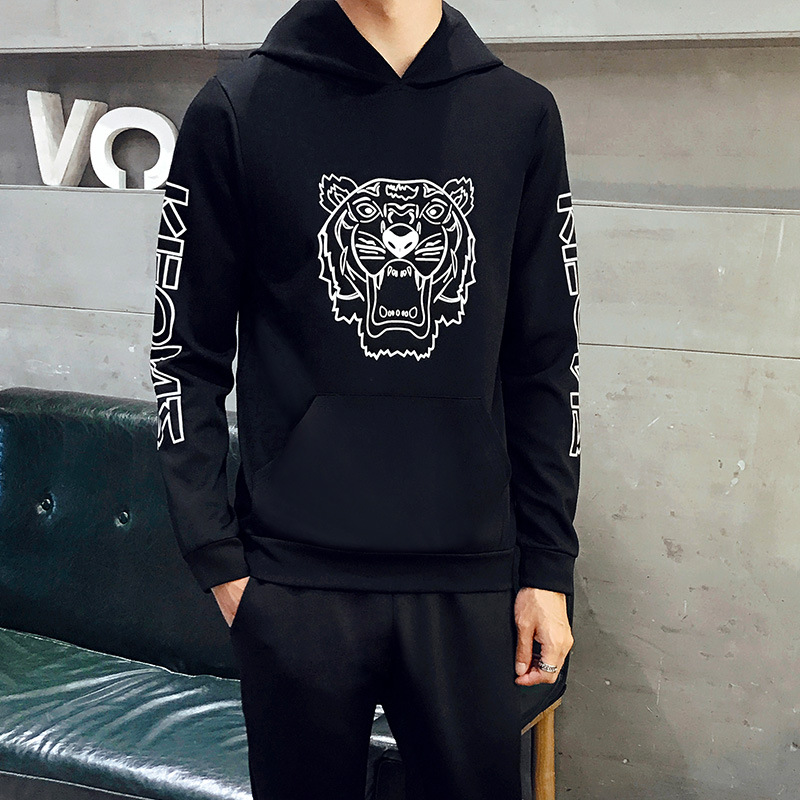 2018 Autumn New Style Teenager Men's Pullover Sweater Students Men Leisure Set Sports Clothing