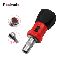 Realmote 1/4 Mini Household Hexagonal Carbon Steel Ratchet Screwdriver Socket Screw Driver With Handle