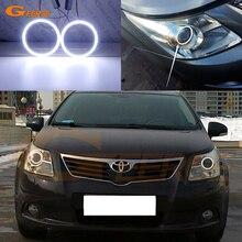 עבור טויוטה Avensis T270 2009 2010 2011 מתיחת מעולה Ultra בהיר COB led מלאך עיני halo טבעת רכב אבזרים