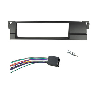 Image 4 - One or Double Din Radio fascias for BMW 3 Series E46 1998 2005 DVD Stereo Panel Dash Mount Refitting Trim Kit Frame CD Bezel