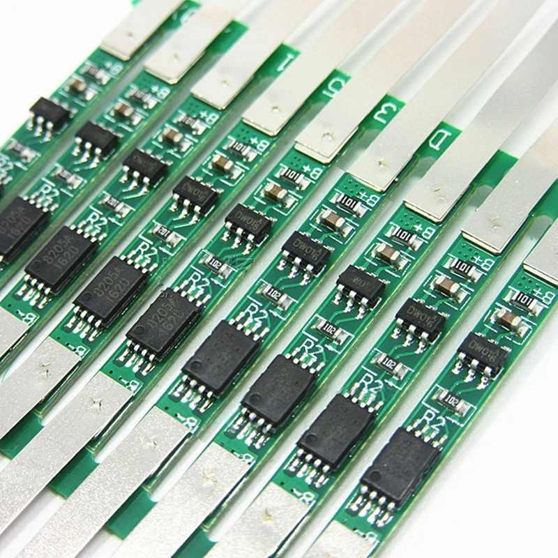 ホット 10X 3A 保護基板 1S 3.7V 18650 リチウムイオンリチウムバッテリー W/はんだベルト