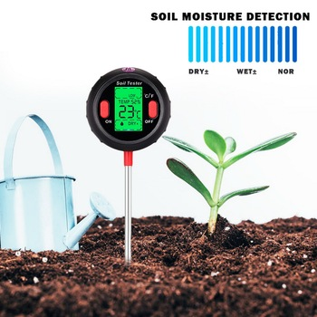 цена на For Gardening 5 in 1 Soil Ph Meter Digital Tester PH Moisture Meter Temperature Sunlight Intensity Measurement Analysis Acidity
