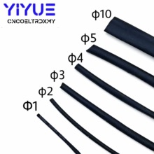 цена на 1M/lot Black Heat Shrink Tube 1mm 2mm 3mm 4mm 5mm 10mm Diameter Heatshrink Tubing Shrinkable Wrap Wire Cable Sleeve