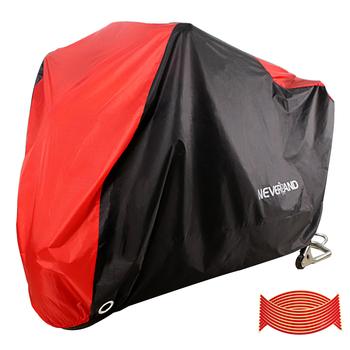 190T czarny czerwony wodoodporny motocykl obejmuje silniki skuter pył deszcz śnieg UV obudowa ochronna kryty odkryty M L XL XXL XXXL D35 tanie i dobre opinie NEVERLAND 295cm Higher Quality 190T Polyester Taffeta