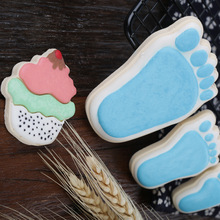 Clay Cutter Shapes Stainless Steel Cake Fondant Sugar Mould Little Feet Cookie Cutters Mold Clay Tools feet of clay
