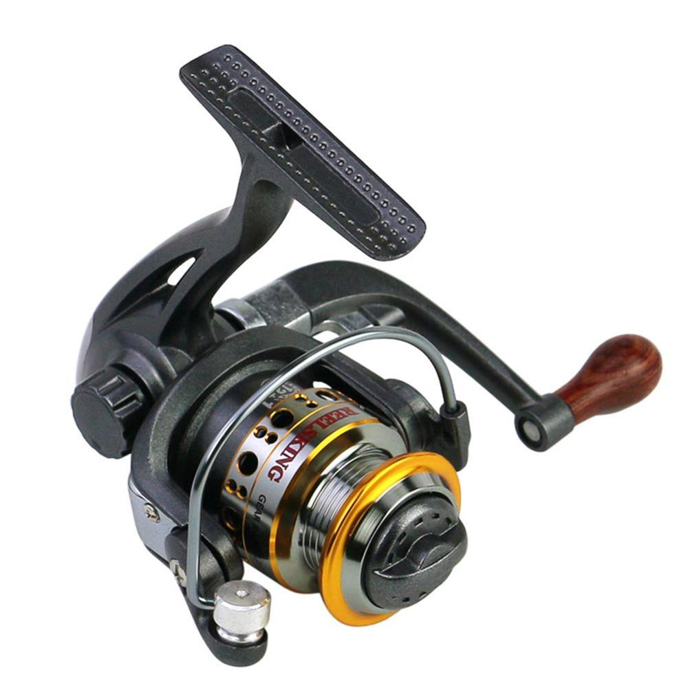 Mounchain Fishing Reel wheel Pocket Fishing Reel 12+1 BB 5.2 : 1 speed Ratio Mini Spinning Fishing Reel Folding Rocker LK150
