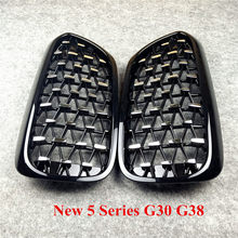 Top quality Kidney Racing Grille grills ABS Grille For F52 F30 F48 F52 F10 G30 G11 F15 F16 Diamond tuning grille(China)