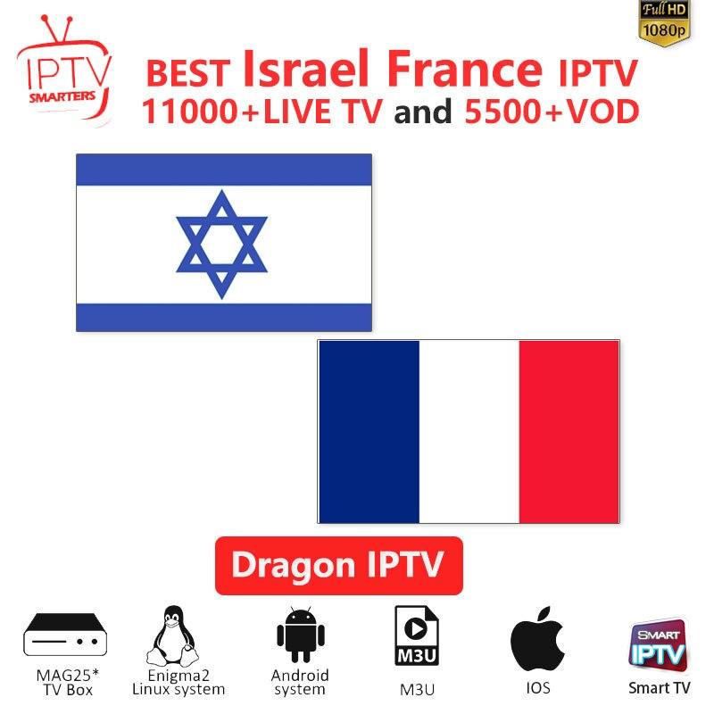IPTV Subscription France IPTV M3U IPTV 10000+Live Channels For M3u Mag Box Smart Tv  Israel Iptv M3U Code Sports