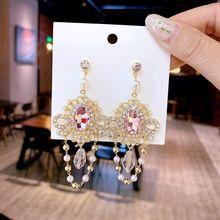 Женские винтажные серьги кисточки mengjiqiao новые элегантные