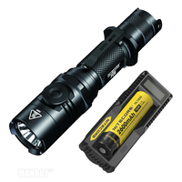 2020 new NITECORE Rotary Swith outdoor Hunting Torch P26 Infinitely Variable Brightness Flashlight + 18650 Battery+ UM10 Charger|LED Flashlights|   -