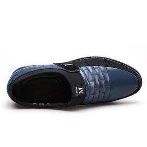 Image 4 - Merkmak 2020 Lente Nieuwe Lederen Mannen Schoenen Mode Toevallige Ademende Slip Op Formele Zakelijke Wandelen Schoeisel Schoenen Big Size 48