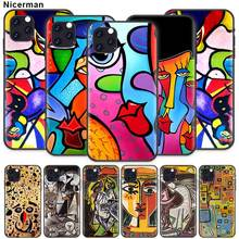 Pablo Picasso abstract Art Case for Apple iPhone 11 X XR XS Max 7 8 6 6S Plus 5 5S SE 5C Black Silicone Cobrir Phone Cover Coque ayrton senna case for apple iphone 11 x xr xs max 7 8 6 6s plus 5 5s se 5c black silicone cobrir phone cover coque