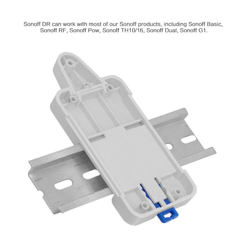 Sonoff DR - Sonoff DIN Rail Tray For Sonoff Basic/ RF /Pow/TH10/16/ Dual/ G1 For Switchboard The DIN Rail Mounted Switchboard
