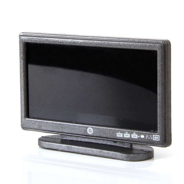 1/12 Miniature Wide Screen Television Flat-Panel LCD TV with Remote Set Dolls House Living Room Bedroom Furniture Decor