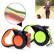 Pet Reflect Leashes 3M 5M 8M Nylon Walk Automatic Leash For Medium And Big Dog Walking Reflective Retractable Lead