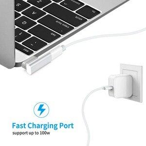 20Pin Магнитный USB C адаптер 4K @ 60Hz PD 100W Type C адаптер, 10Gbp/s передача данных и видео выход для MacBook Pro/Air и многое другое