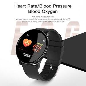 Image 2 - Relógio inteligente pulseira de fitness à prova dwaterproof água rastreador de freqüência cardíaca monitor de pressão arterial esportes