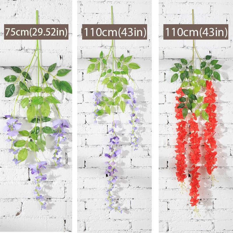 175 CENTIMETRI Wisteria Vine Fiori Artificiali Fiori di Seta Ghirlanda Arco Arco di Nozze Decorazione Della casa decorazione del giardino appeso pianta della decorazione della parete