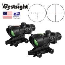 ACOG 4X32 Echt Fiber Optics Red Dot Beleuchtet Chevron Glas Geätzt Absehen Tactical Optische Anblick Jagd AR15 Zielfernrohr