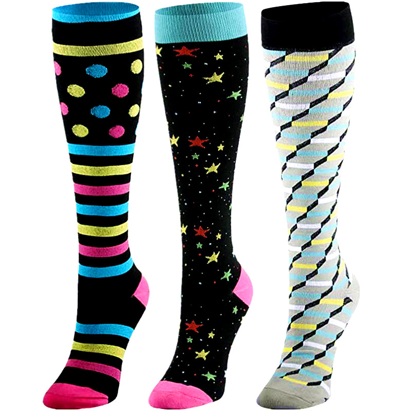 Antifatigue 15-30 MmHg Compression Socks Unisex Fit For Nurses, Pregnancy, Diabetes, Varicose Veins, Running Compression Socks