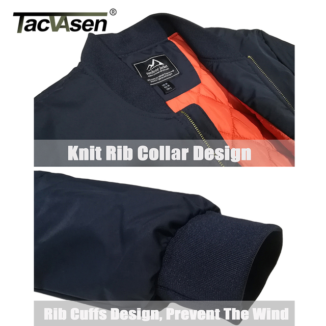 TACVASEN Winter Military Jacket Outwear Mens Cotton Padded Pilot Army Bomber Jacket Coat Casual Baseball Jackets Varsity Jackets 4