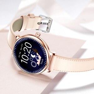 Image 3 - RUNDOING NY12 Stijlvol smartwatch voor vrouwen Smartwatch met ronde schermen voor Girl Compatibel met hartslagmeters voor Android en IOS