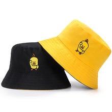 Summer Duck smile Bucket Hat for Men Women Two Side Fashion Hip Hop Fisherman Hat Bob Boys Girls Outdoor Travel Hat Shade Panama