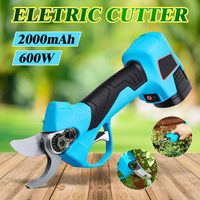 Cordless 2000mAh 600W Rechargeable Electric Pruning Scissors Pruning Shears Garden Pruner Secateur Branch Cutter Cutting Tool
