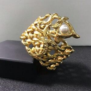 Image 5 - Hot Vintage Gold Color Egyptian Pharaoh Design Jewelry Beetle Bracelet Big Bangle Cuff Bracelet Hot Brand Jewelry Copper Jewelry
