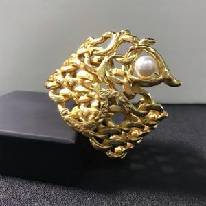 Image 5 - Quente da cor do ouro do vintage faraó egípcio design jóias besouro pulseira grande pulseira manguito quente marca jóias de cobre