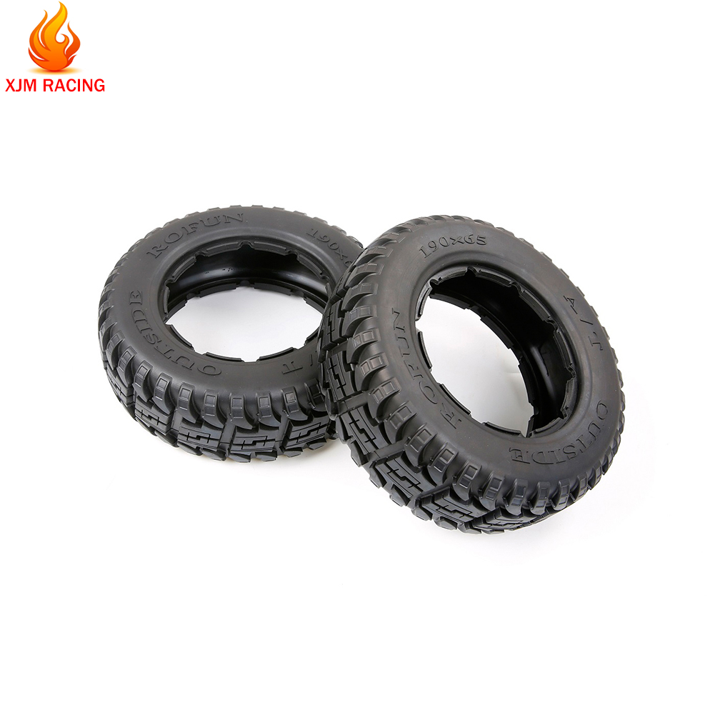 All-terrain Tyre Skin Kit Front 190*65 and Rear 190*75 for 1/5 HPI ROFUN BAHA 5T 5SC ROVAN BAJA KM TRUCK RC CAR Toys PARTS image