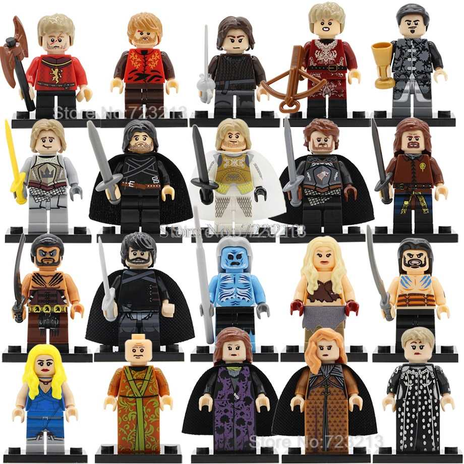 Single Game Of Thrones Figure Khai Drago Daenerys Lord Varys Eddard Stark White Walker Jaime Building Block Model Toys Legoing
