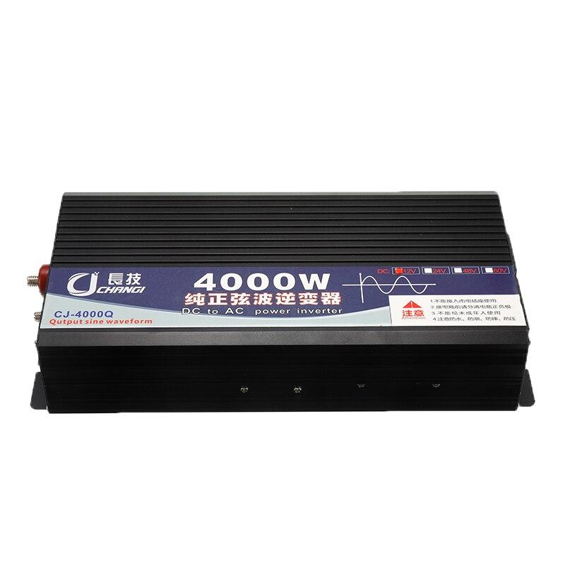 Чистая Синусоидальная волна инвертор 4000 Вт пиковый DC 12 В в AC 220 В двойной дисплей домашний преобразователь зарядное устройство Блок питания ... - 3