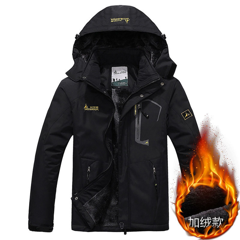 2020 North Winter Jacket Men Thick Warm Coats Couple Rain Jackets Face Camping Parkas Hooded Fleece Windbreaker Clothes 6XL Ropa