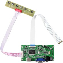 Nova placa de controle edp monitor kit para LP156WF6-SPM3 LP156WF6-SPJ2 LP156WF6-SPB4 hdmi + vga lcd led placa controlador driver