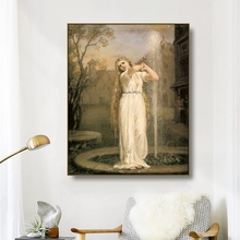 цена на Cassisy Canvas Art Oil Painting《Undine》John William Waterhouse Poster Picture Wall Decor Modern Home Decoration For Living room