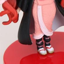 2 pièces/ensemble démon Slayer Kimetsu no Yaiba Figure Kamado Tanjirou Nezuko Figure démon Slayer Figure guerrier PVC cadeaux de noël 7cm