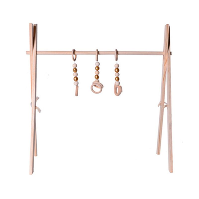 Nordic Simple Wooden Fitness Rack Children Room Decorations Baby Play Gym Activity Pendants Hanging Bar Newborn Gifts D7WF