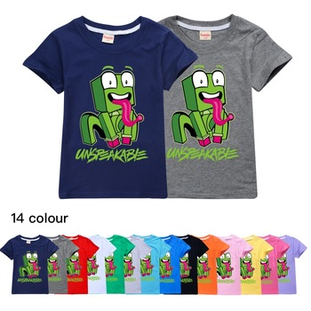 New Big Kids Clothes Girls 8 To 12 Summer T Shirt Cotton Cute Frog Unspeakable Teenage Boys Black Tops Toddler Children T-shirts 1