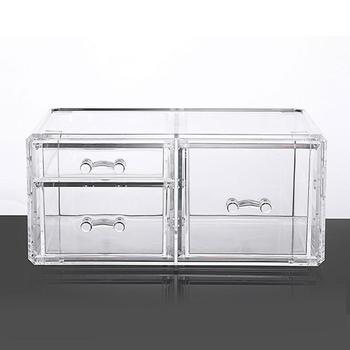 Cajón Organizador de Maquillaje caja de almacenamiento de cosméticos Organizador de lápiz labial de plástico caja de exhibición transparente Maquillaje soporte de joyería K6A9
