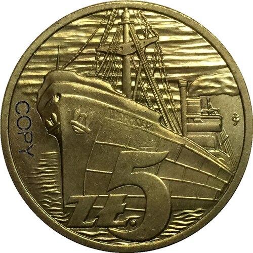 1958 polónia latão moedas cópia 29mm
