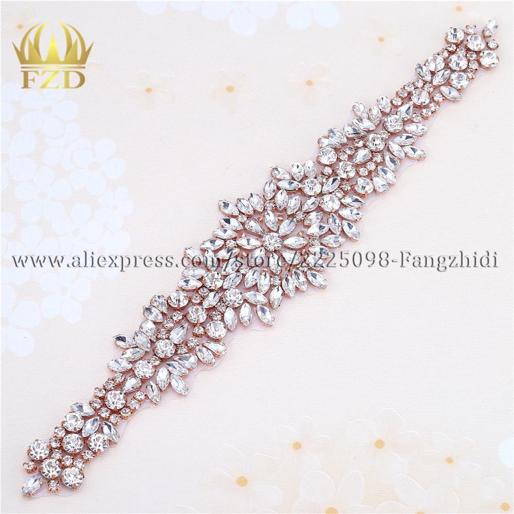 Plata Rhinestone Diamante Perla Cristal Coser Motivo De Adorno Cadena Para Boda