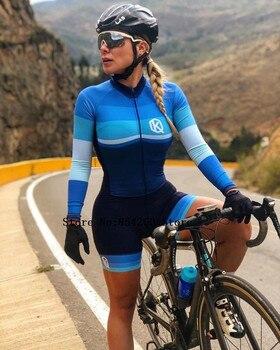 Triathlon skinsuit verão esportes das mulheres manga longa conjunto camisa de ciclismo macacão roupa feminina uniforme 2020 19