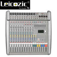 Leicozic New PM1000-3 / CMS1000-3 Professional Powered Mixing Console Audio Mixer Amplifier 1300w *2 Powered Mixers 48V phantom