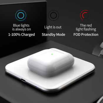 15W QI Quick Charging Wireless Fast Charger usb tpye c QC 3.0 Mobile phone Station For iphone samsung s9 xiaomi SIKAI 1