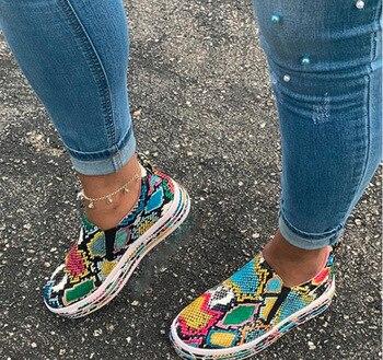 Γυναικεία sneakers Πολυέστερ Με Αποτύπωση Φιδιού